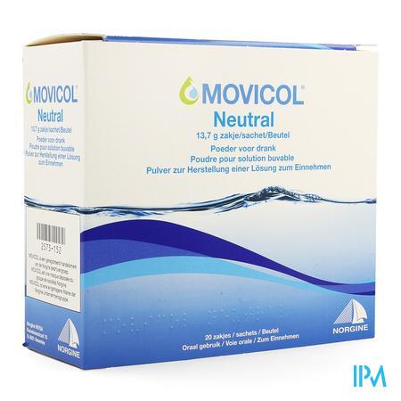 Movicol Neutral Zakjes 20 X 13,7g