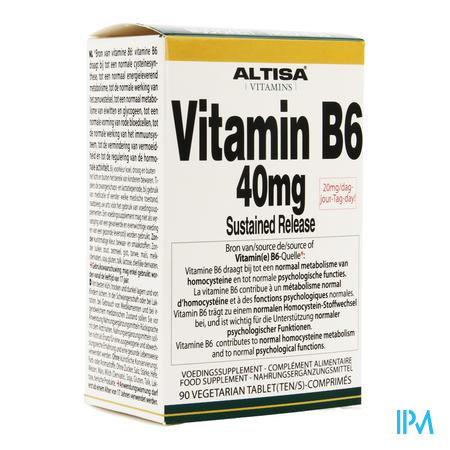 Altisa Vit B6 40mg Sustained Release Tabl 90