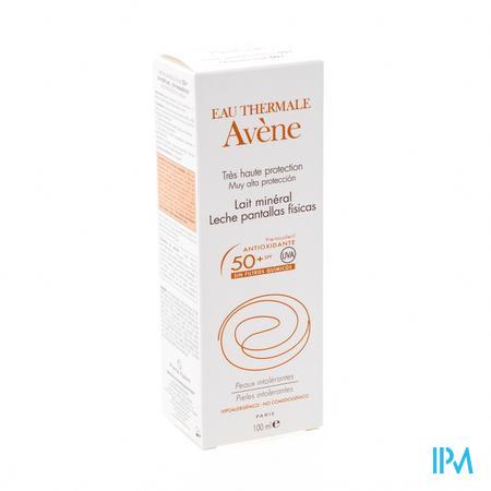 Afbeelding Avène Waterproof Minerale Zonnemelk met SPF 50+ zonder Parfum Tube 100 ml.