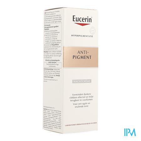 Afbeelding Eucerin Anti-Pigment Nachtcrème  voor Vermindering van Donkere Vlekken en Hulp bij Voorkomen van Terugkeer ervan Flacon 50 ml.