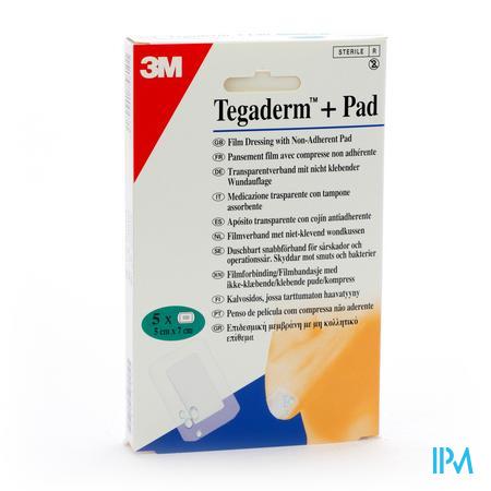 Tegaderm + Pad 3m Transp Steril 5cmx 7cm 5 3582p