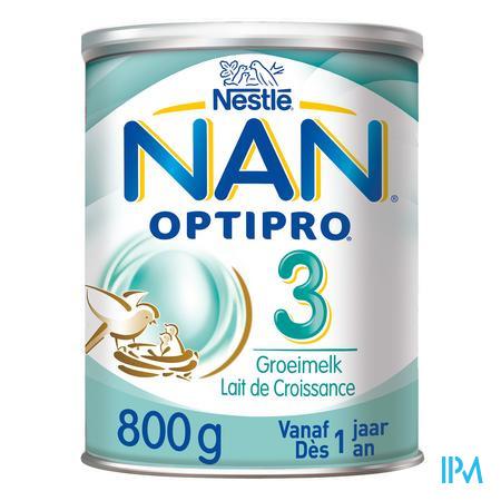 Afbeelding Nan Optipro 3 Groeimelk vanaf 10 maanden Pot 800 g.