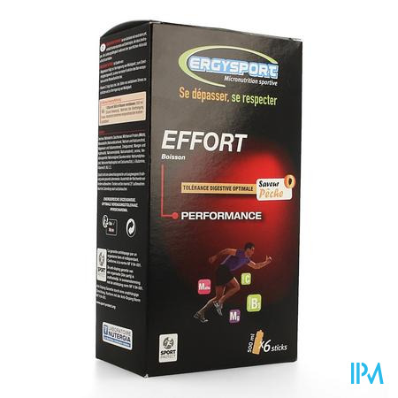 Ergysport Effort Perzik Drink Stick 6x30g