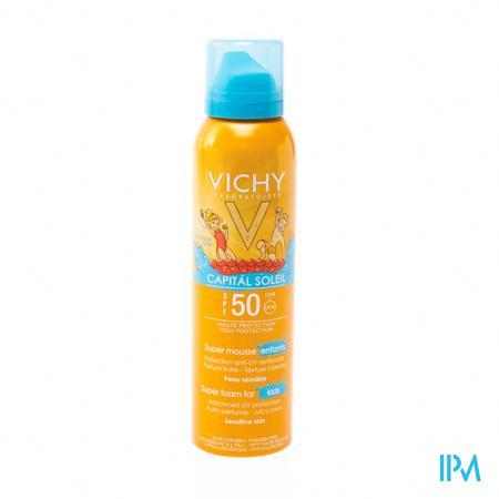 Afbeelding Vichy Capital Soleil Zonnemousse voor Kinderen met SPF 50 150 ml.