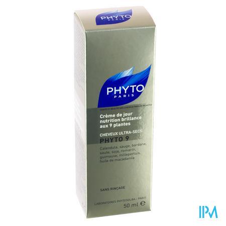 Phyto 9 Crème Jour Nutrition Brillance Aux 9 Plantes Cheveux Trés Secs 50 ml