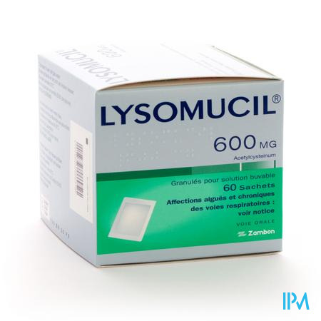 Lysomucil 600 Gran Sachets 60 X 600 mg