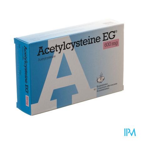 Afbeelding Acetylcysteïne EG 600 mg 60 Bruistabletten.