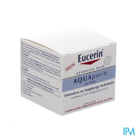 Afbeelding Eucerin Aquaporin Active Intensief en Langdurig Hydraterende Crème voor Normale tot Gemengde Huid 50 ml .