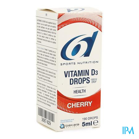6d Sixd Vitamin D3 Drops Cherry 5ml