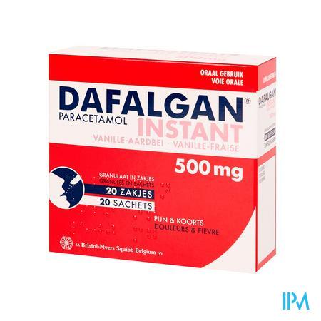 Dafalgan Instant Vanille Aardb Gr Zakjes 20x 500 mg