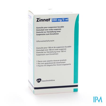 Zinnat 250 Susp Or 100ml 250mg/5ml