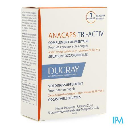 Afbeelding * Ducray Anacaps Tri-Activ voor Haar en Nagels 30 Capsules.