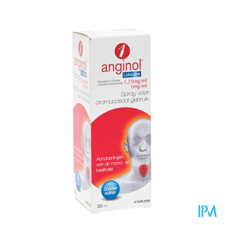Afbeelding Anginol Lidocaïne 30ml spray.