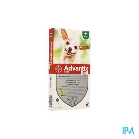 Advantix 40/ 200 Honden < 4kg Fl 6x0,4ml