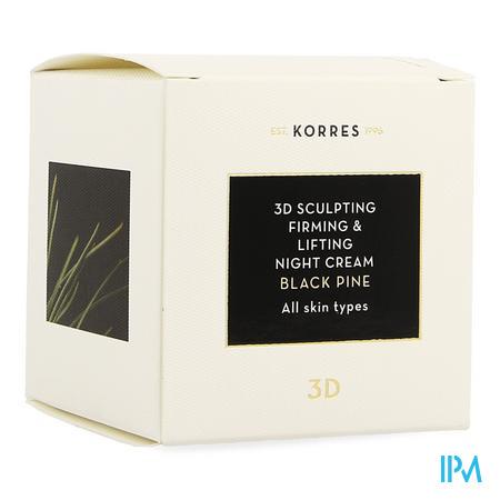 Korres Kf Black Pine 3d Nachtcreme 40ml
