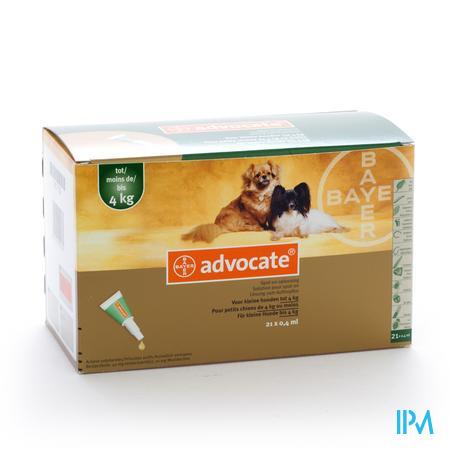 Advocate Spot On Opl Kleine Hond <4kg Pipet 21