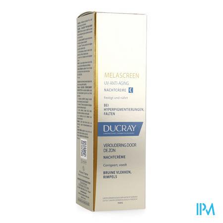Afbeelding * Ducray Melascreen Nachtcrème tegen Pigmentvlekken en Rimpels Pompflacon 50 ml.