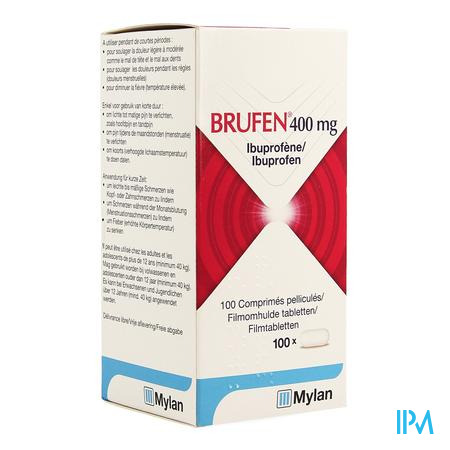 Brufen 400 mg Filmomhulde Tabletten 100 X 400 mg
