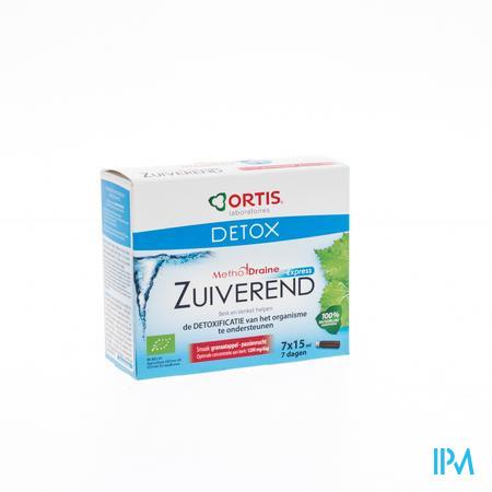 Ortis Detox MethodDraine Express BIO passievrucht-granaatappel 7 x 15 ml