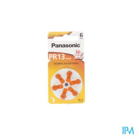 Panasonic Batterie Appareil Oreille Orange Pr 13H 6 pièces
