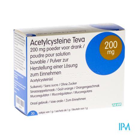 Acetylcysteïne Teva 200mg 30 zakjes