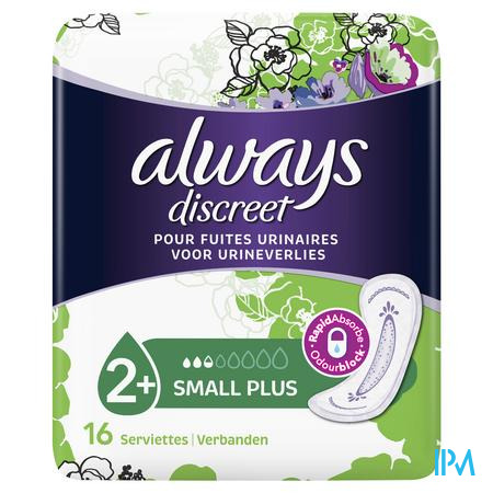 Always Discreet Incontinence Pads Small Plus Spx16