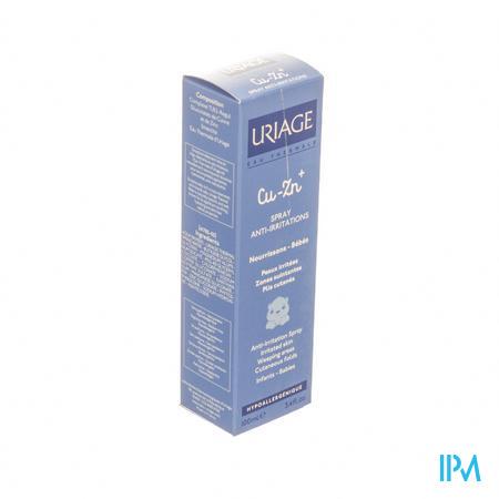 Afbeelding Uriage Cu-Zn Spray tegen Irritaties bij Nattende Geïrriteerde Zones voor Baby's Flacon 100 ml.