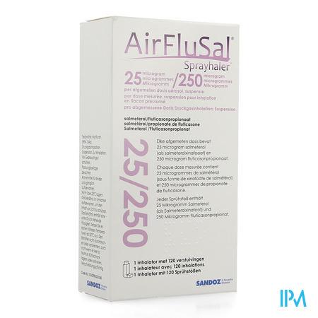 Airflusal Sprayhaler 25mcg/250mcg Inhal 1x120