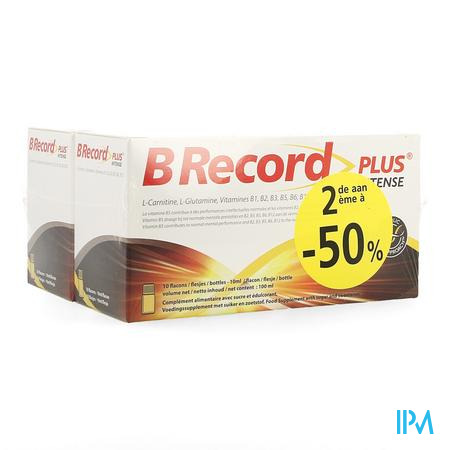 B Record Plus Intense Flacon 20x10ml Promo 2e -50%