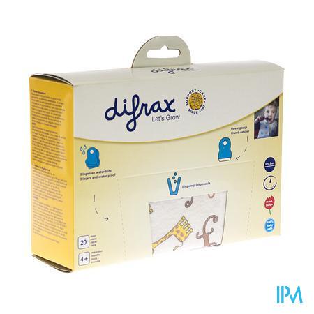 Difrax Bavoir Jetable 20 pièces
