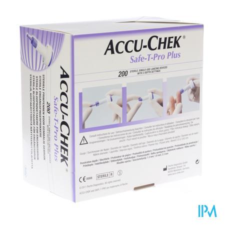 Accu-Chek Safe T Pro Plus Steriel Wegwerp 200 stuks