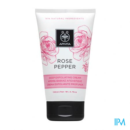 Apivita Scrub Rose&pepper Tube 150ml