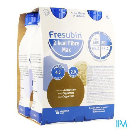 Fresubin 2kcal Fibre Max Drink Cappuccino 4x300 ml  -  Fresenius