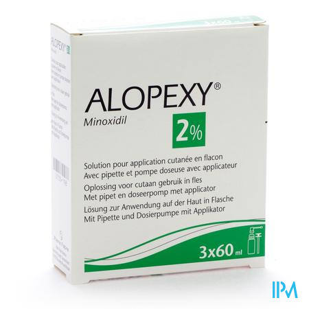Farmawebshop - ALOPEXY 2 % LIQUID FL PLAST PIPET 3X60ML