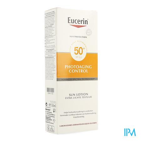 Afbeelding Eucerin Photoaging Control Zonnelotion met SPF 50 + met Extra Lichte Textuur Tube 150 ml.