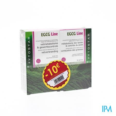 Fytostar Egcg Line Vetverbranding Duopack -10 € 2 x 60 capsules