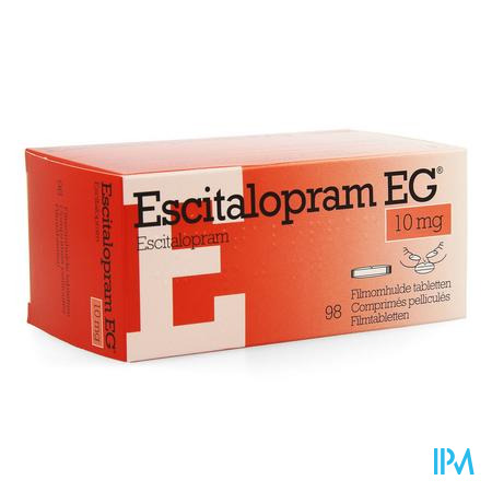 Escitalopram Eg 10mg Comp Pell 98 X 10mg
