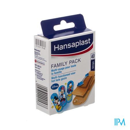 Afbeelding Hansaplast Pleister Family Pack Multi-Functioneel voor het Hele Gezin 40 Strips.