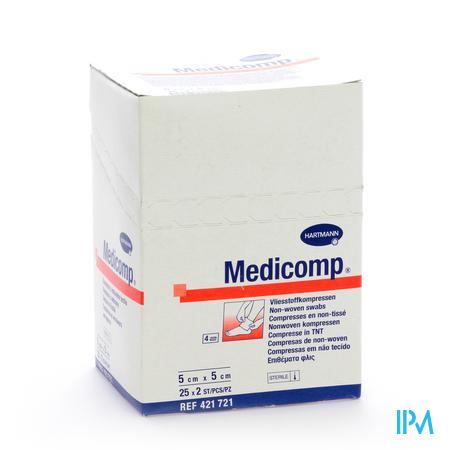 Medicomp 5x5cm 4l. St. 25x2 P/s