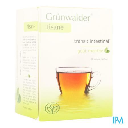 Grunwalder Transit Thé Munt 20 sachets