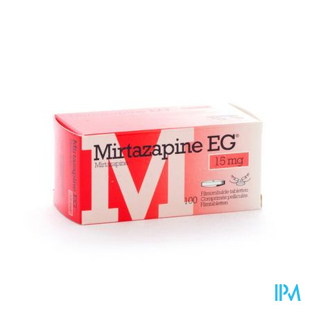 Mirtazapine Eg 15mg Comp Pell 100 X 15mg