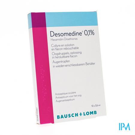 Desomedine 0.1% Oogdruppels 10 x 0.6 ml unidosis