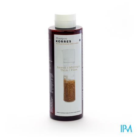 Korres Shampoo Rice & Tile 250 ml