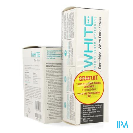Iwhite Dark Stains Kit + Tandpasta 75ml Gratis