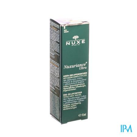 Afbeelding Nuxe Nuxuriance Ultra Totale Anti-Ageing Oog- en Lipcontourcrème tegen Rimpels, Verslapping, Vlekken, Wallen en Donkere Kringen Tube 15 ml.