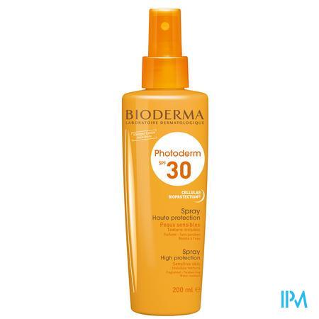 Afbeelding Bioderma Photoderm Zonnespray met SPF 30 voor Gelaat en Lichaam 200 ml.