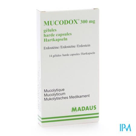 Farmawebshop - MUCODOX 300 MG CAPS 14