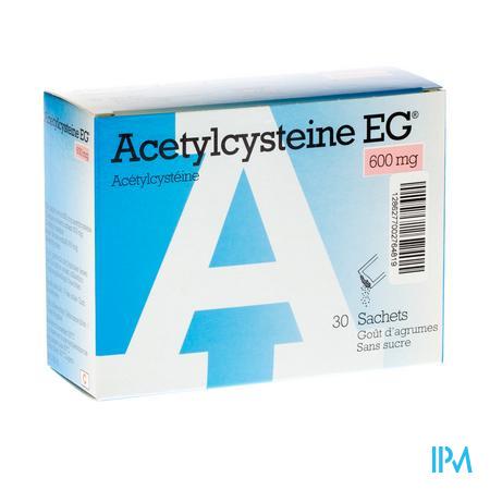 Acétylcystéine EG 600 mg 30 sachets