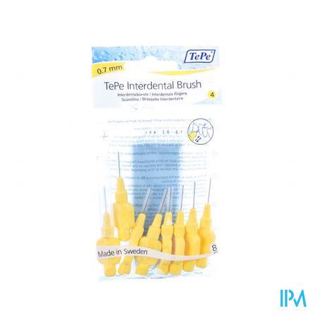 Tepe Interdental Brush Cyl. 0.70mm Geel Fine 8 stuks