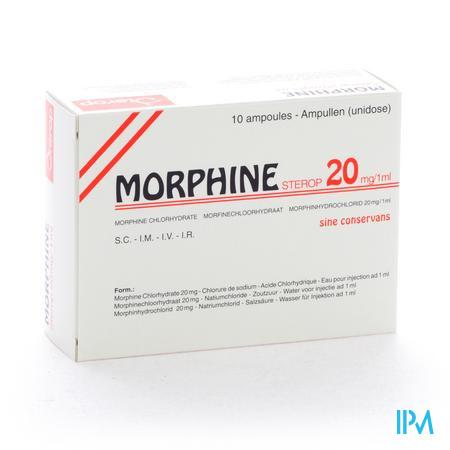 Sterop Morf 20mg 1ml Z/b 10 Amp Ud